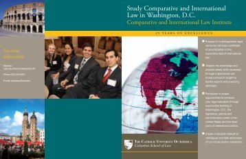 Brochure - Columbus School of Law