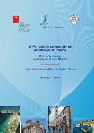 WIPO-Croatia Summer School on Intellectual Property