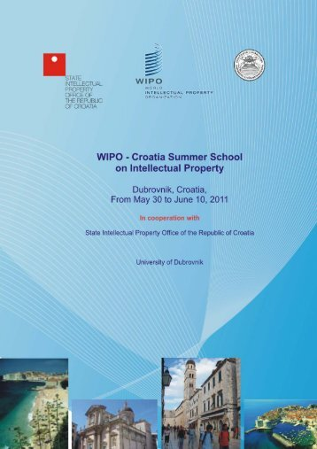 WIPO-Croatia Summer School on Intellectual Property