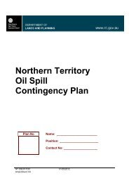 Northern Territory Oil Spill Contingency Plan - Department of Transport