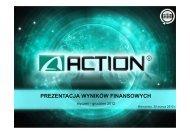 Prezentacja wyników finansowych 2012 - Action S.A.