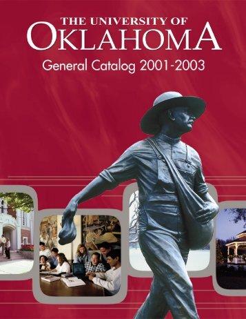 2001-03 OU General Catalog - University of Oklahoma