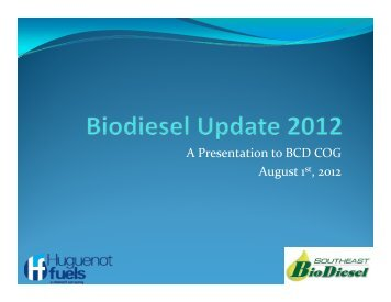 Biodiesel 2012