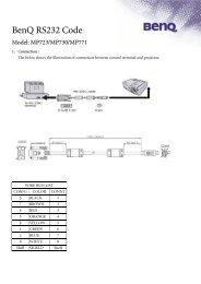 BenQ RS232 Code - All Pro Sound