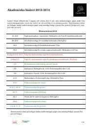 Akademiska läsåret 2013-2014