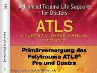 Primäversorgung des Polytraumas - ATLS pro und contra