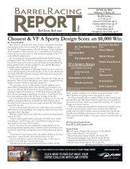 6/25 - Barrel Racing Report
