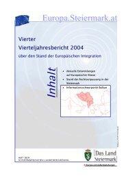 Vierter Vierteljahresbericht - Europa Steiermark