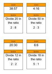 sharing ratio - Mr Barton Maths