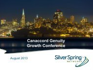 Canaccord Genuity Growth Conference Presentation - Silver Spring ...