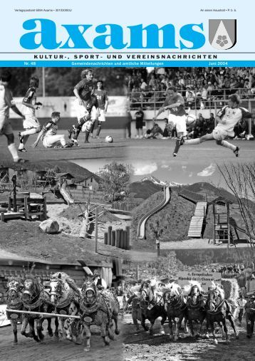 Axamer Zeitung Nr. 48 (0 bytes) - Gemeinde Axams - Land Tirol
