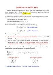 Equilibrio dei corpi rigidi- Statica ∑ - Infn