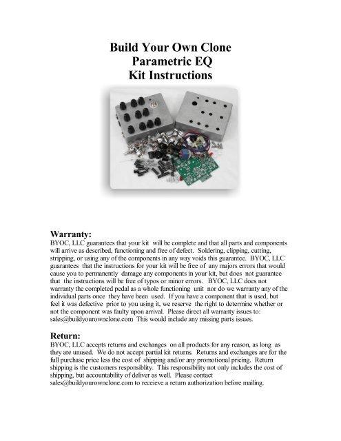 Parametric Eq Pcb