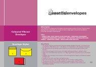 Coloured Vibrant Envelopes Envelope Styles