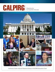 Fiscal Year 2012 Annual Report - CalPIRG