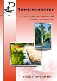 Veranstaltungen - Ev. Christus-Kirchengemeinde Olfen