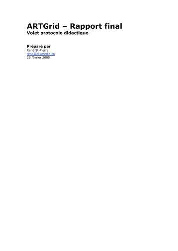 ARTGrid – Rapport final - Clik Media