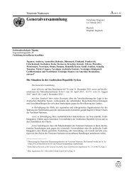 Resolution - Frieden sichern