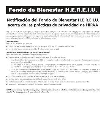 Aviso de Privacidad - the Culinary Health Fund