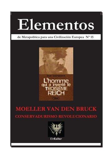 """MOELLER VAN DEN BRUCK - centro studi """"cursus honorum"""""""