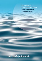 Sommer 2011 - Christusgemeinde Freiburg