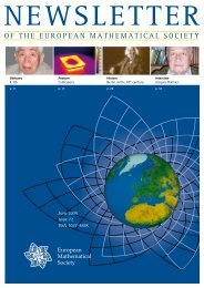Mathematics Books from Oxford - The European Mathematical Society