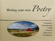 Writing your own Poetry - iMET