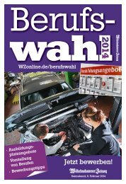 Berufswahl 2014 - Wilhelmshavener Zeitung