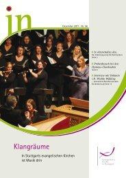 IN 56: Klangräume - Evangelische Kirche Stuttgart