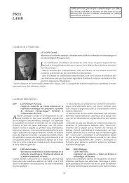 Prix Lamb : lauréats - Prix de l'Académie des sciences