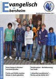 Konfirmation 2011 - Evangelische Kirchengemeinde Mainz-Ebersheim
