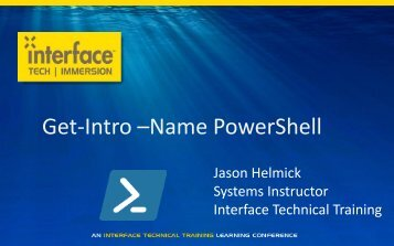 tech | immersion - Interface Tech Blog - Interface Technical Training