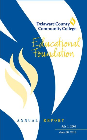 DCCC Annual Report 2004 - Delaware County Community College