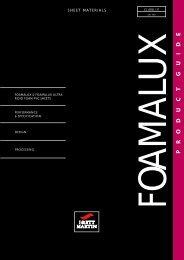 Foamalux product guide