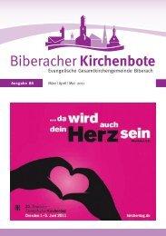 Biberacher Kirchenbote 88 - Evangelische Gesamtkirchengemeinde ...
