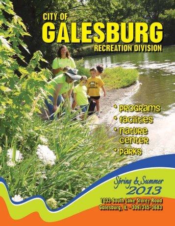 Spring Summer 2013 Recreation Brochure - City of Galesburg
