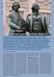 Thüringen: kleines Land – grosse Namen - Birseck Magazin