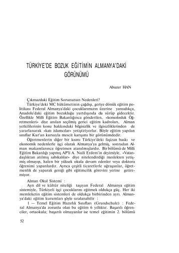 türkiye'de bozuk eğitimin almanya'daki görünümü - Eğitim Sen