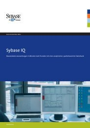 Solutions Brochure titling here 30/33 and can go to Second ... - Sybase