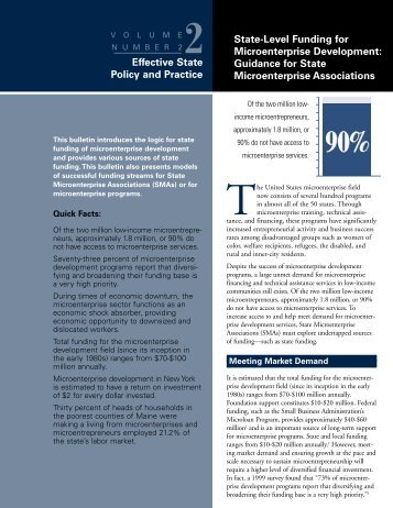 Effective State Policy and Practice State-Level Funding for ... - CFED