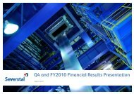 Q4 and FY2010 Financial Results Presentation - Severstal
