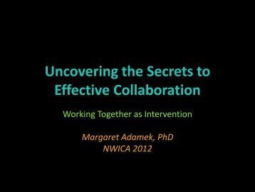 Uncovering the Secrets to Effective Collaboration
