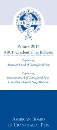 Credentialing Information Bulletin - American Academy of ...