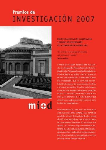 Premios de investigación 2007 - Madri+d
