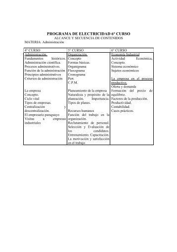 Programa de Estudio 5º Curso