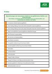 R-Sätze - Institut für Betriebliche Gesundheitsförderung BGF GmbH