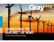 HARVESTING THE SUN AND THE WIND - Gray Construction