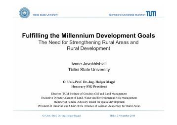 International Alliance on Land Tenure and Administration (IALTA)