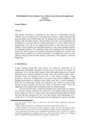 Relationship between statutory law, collective agreement and ...
