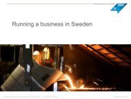 Running a business in Sweden